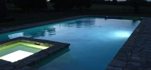Wakefield Farms pool at night